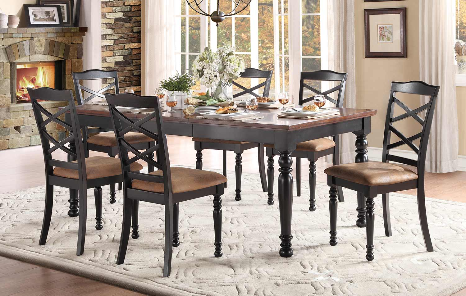 Homelegance Isleton Dining Set - Black