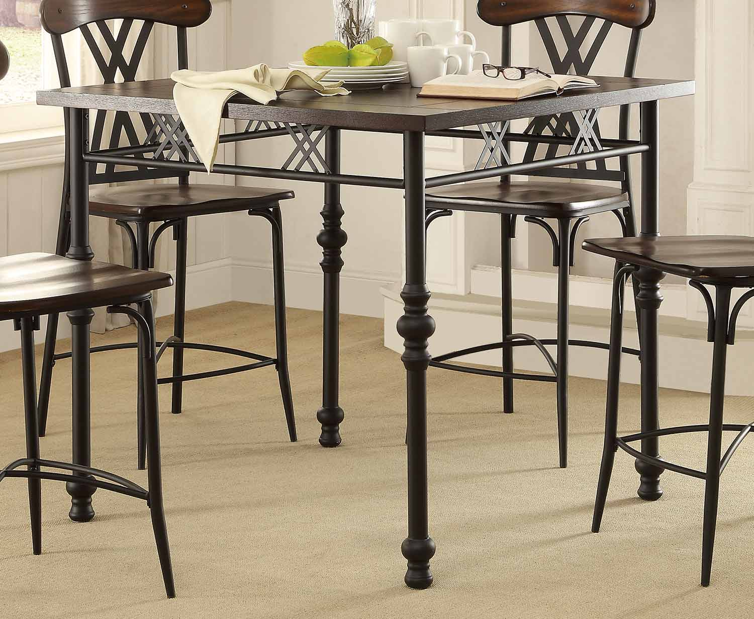 Counter Height Metal Table : Loyalton Counter Height Dining Set - Wood/Metal 5149-Counter ...