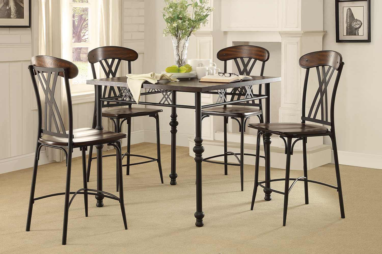 Homelegance Loyalton Counter Height Dining Set - Wood/Metal