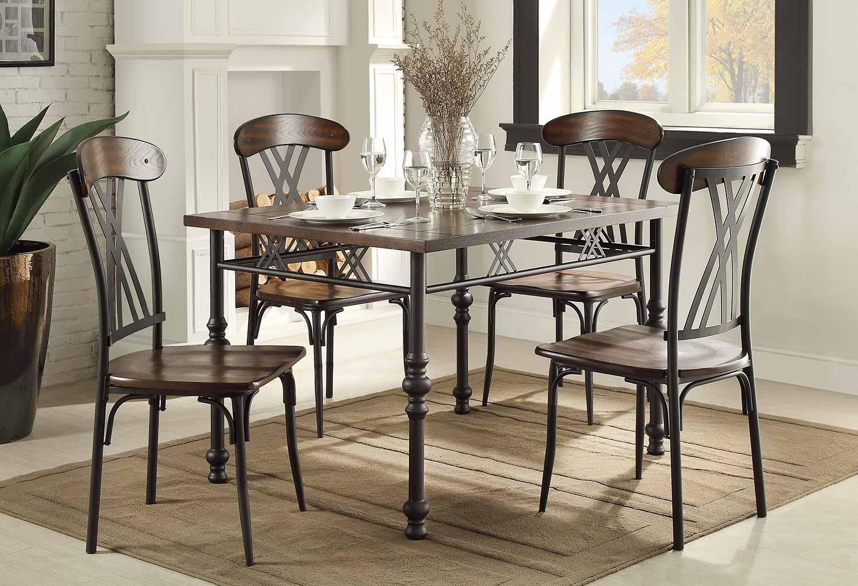 Homelegance Loyalton Dining Set - Wood/Metal