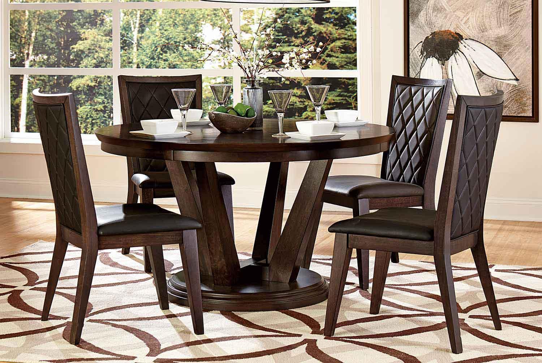 Homelegance Villa Vista Dining Set - Dark Walnut