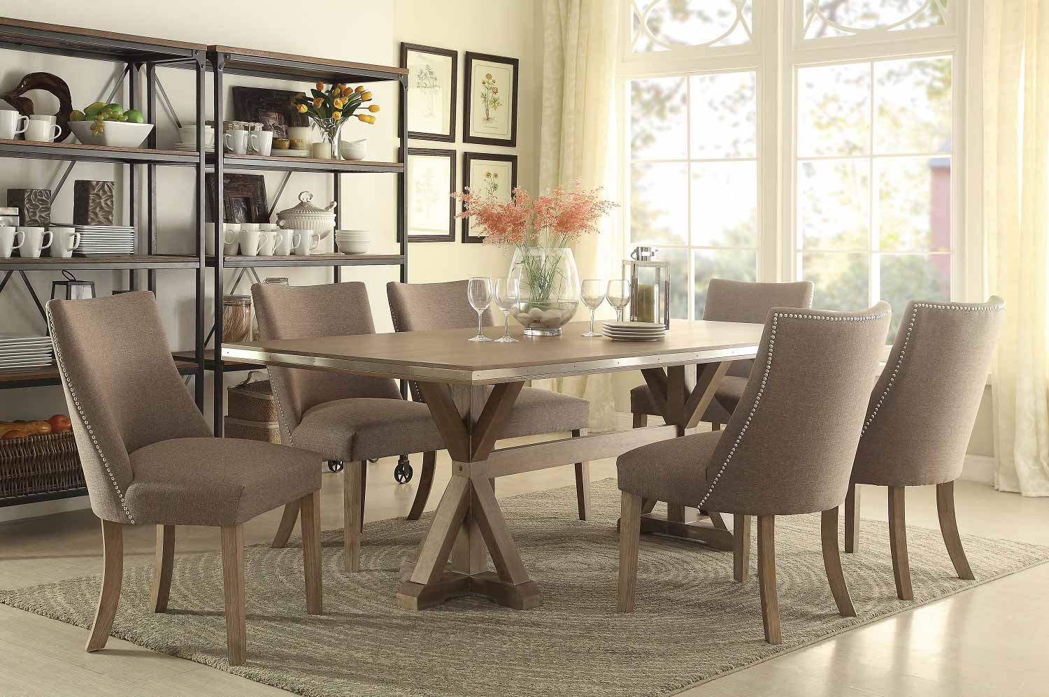 Homelegance Beaugrand Dining Set - Brown