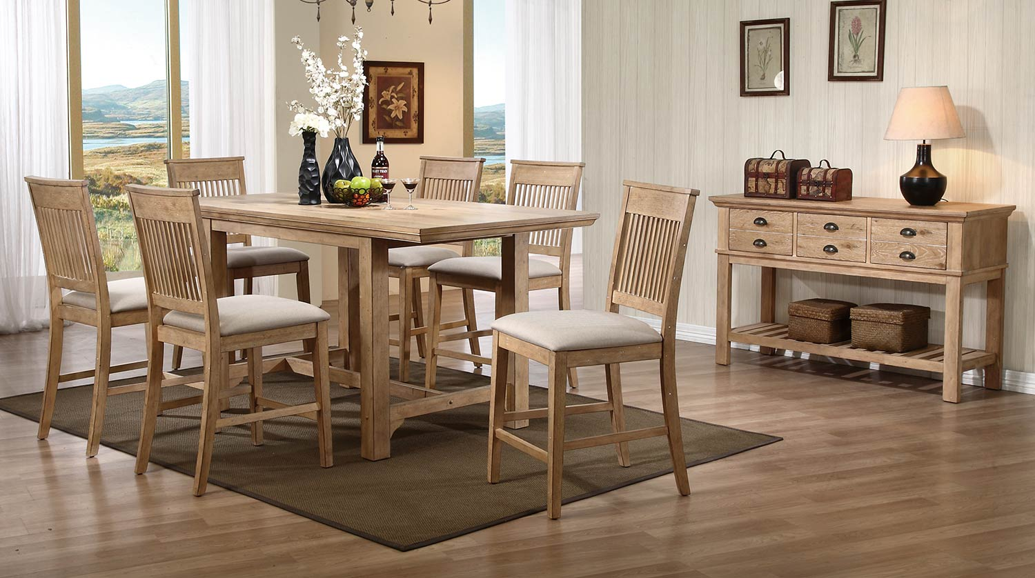 Homelegance Candace Counter Height Dining Set - Natural