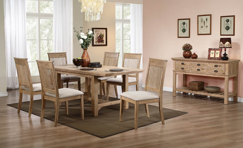 Homelegance Candace Dining Set - Natural