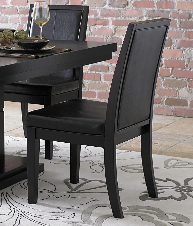 Homelegance Cicero Side Chair in Black Leatherette