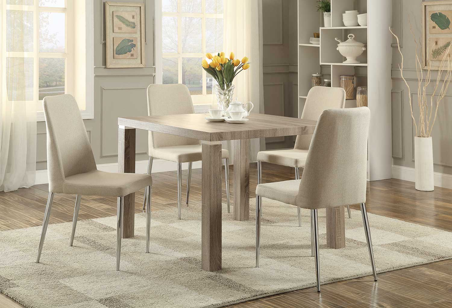 Homelegance Luzerne Dining Set - Washed Weathered Wood Legs