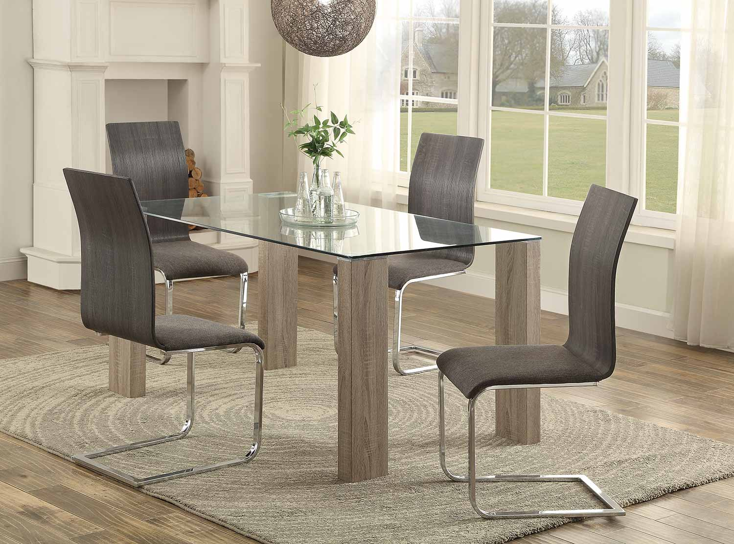 Homelegance Zeba Dining Set - Weathered Wood