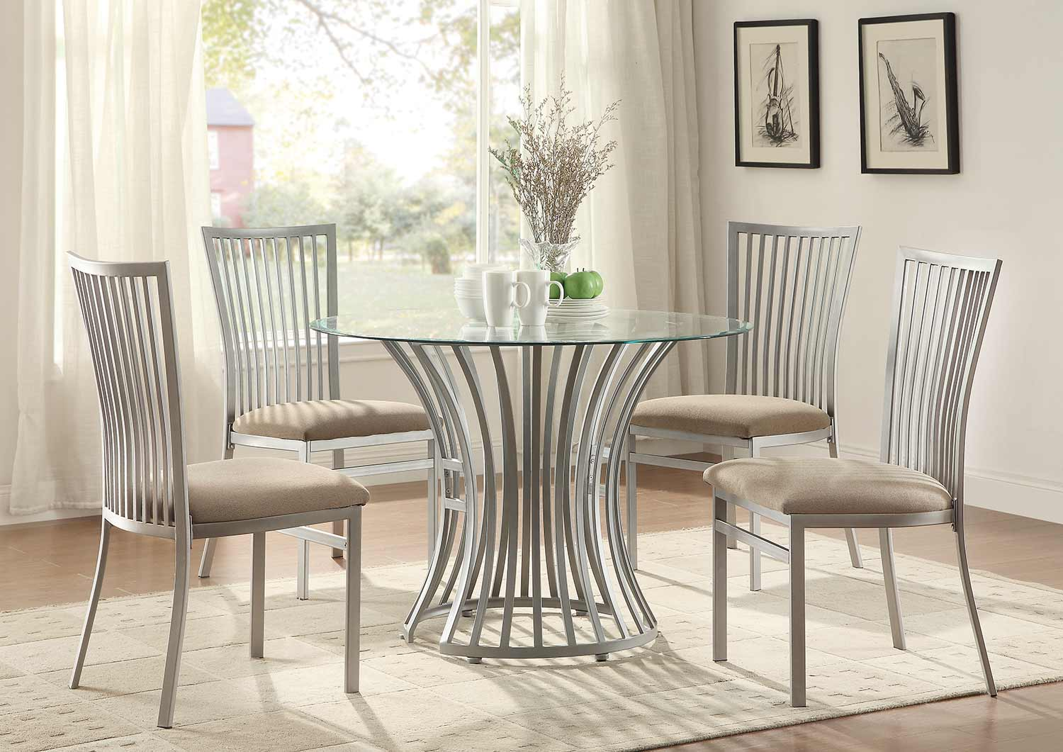 Homelegance Sodus Dining Set - Gunpowder Metal