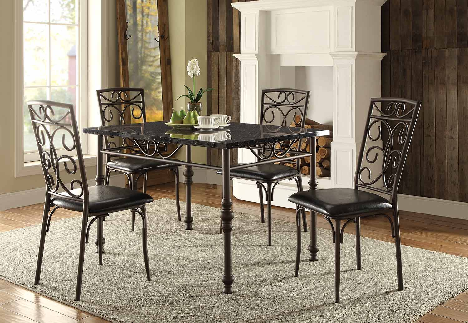 Homelegance Dryden Dining Set Metal 5268 Dining Set At