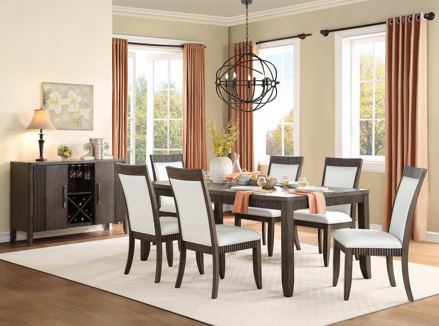 Homelegance Piqua Dining Set - Grey