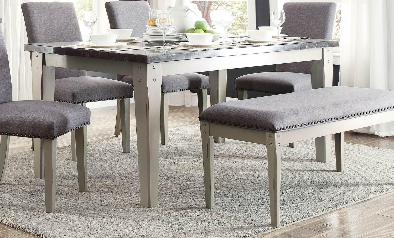 Homelegance Mendel Dining Table Bluestone Marble Top