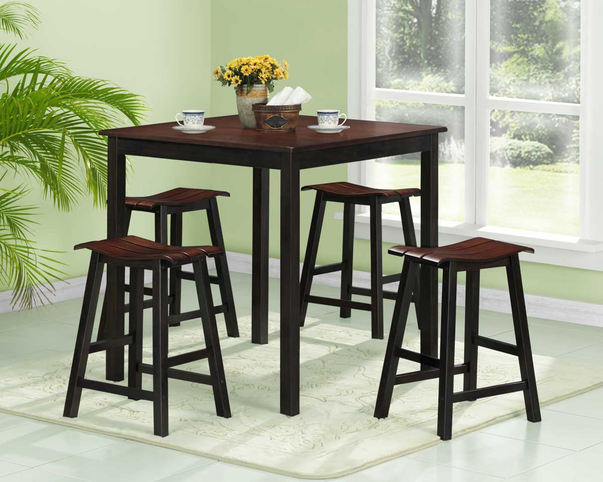 coaster cabrillo counter height two tone dining table finish