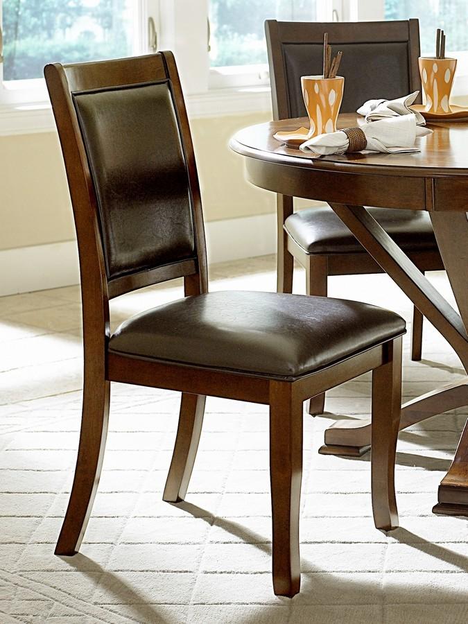 Homelegance Helena Side Chair in Dark Brown Leatherette