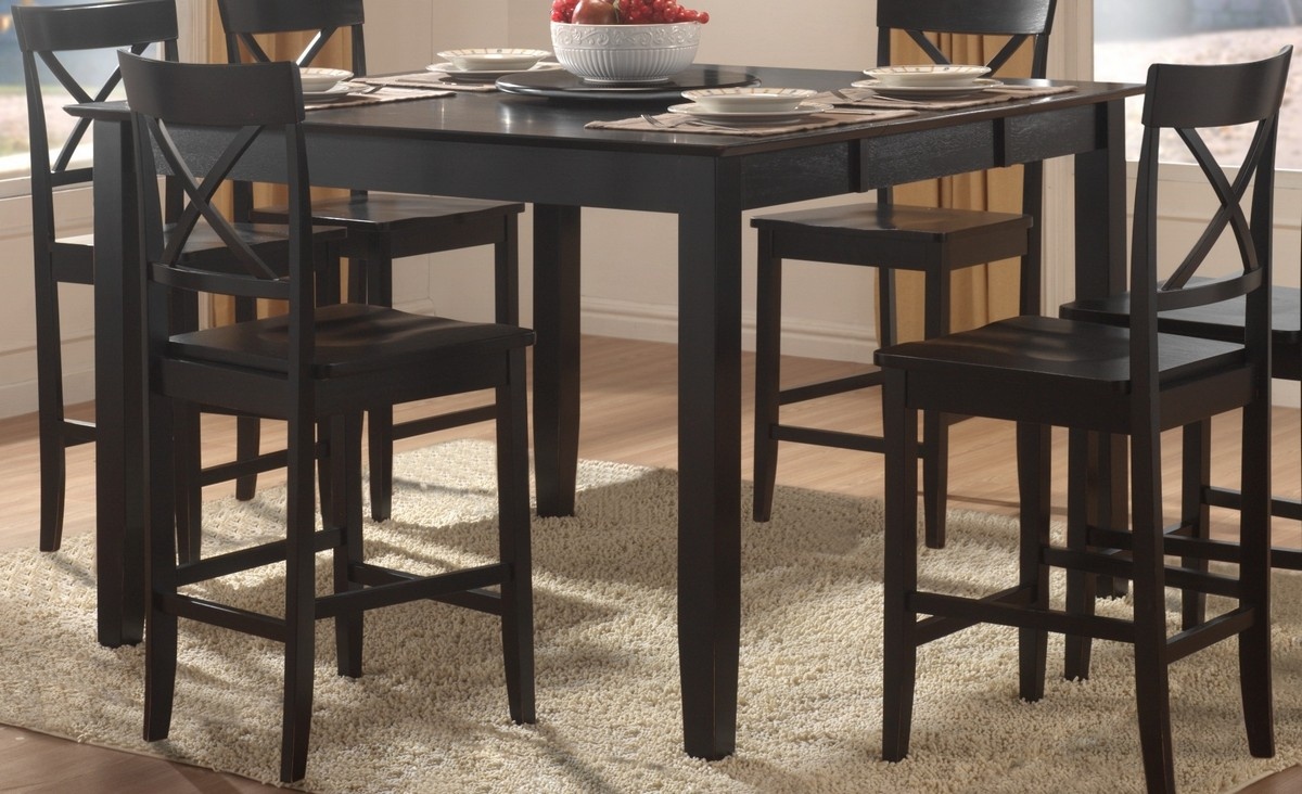 Homelegance Billings Counter Height Dining Table With Lazy Susan 5366 36