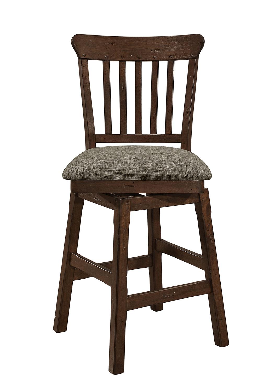 Homelegance Schleiger Swivel Counter Height Chair - Dark Brown