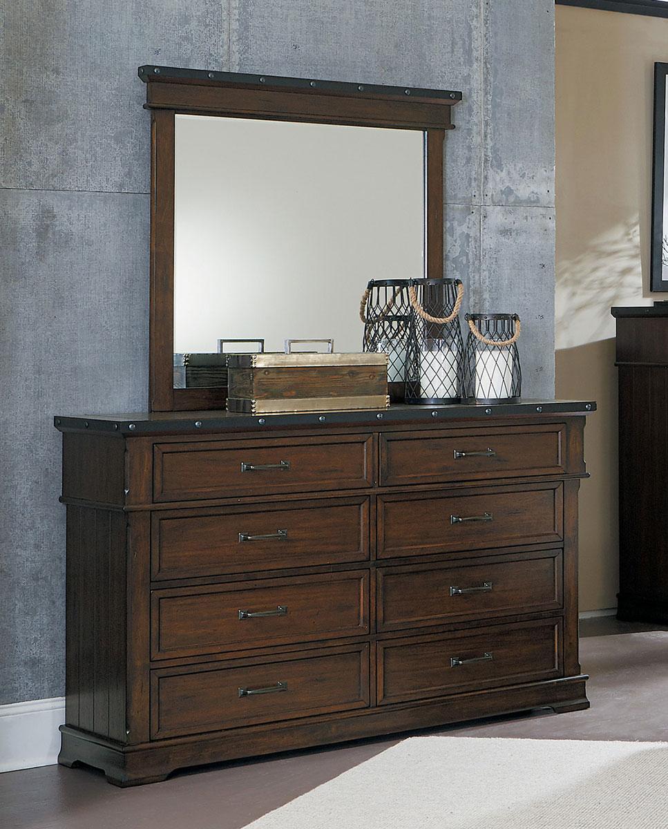 Homelegance Schleiger Dresser - Burnished Brown