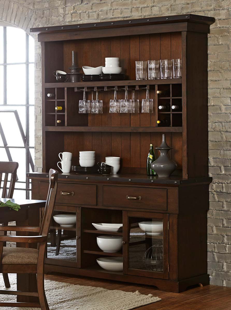 Homelegance Schleiger China Cabinet - Burnished Brown