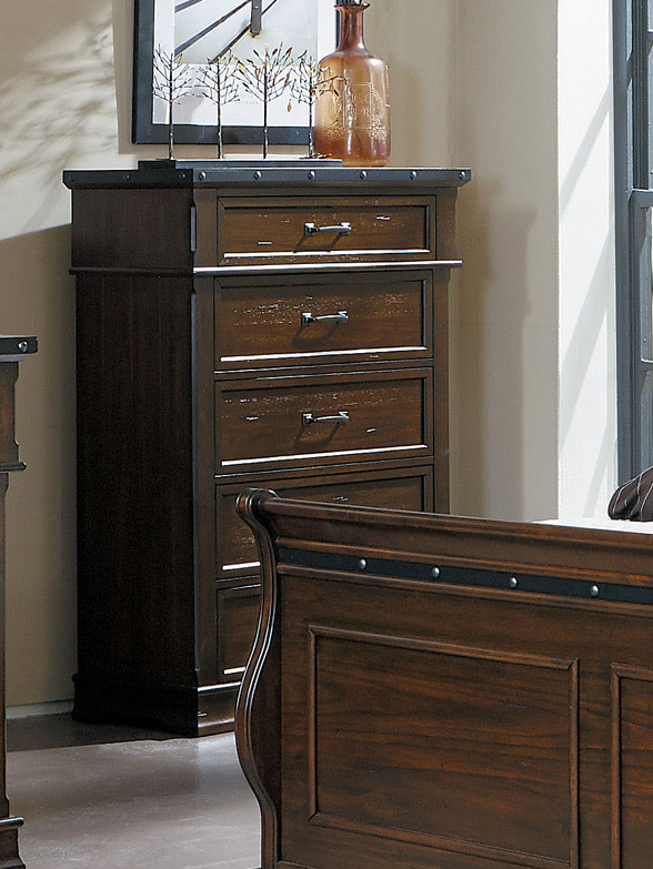 Homelegance Schleiger Chest - Burnished Brown