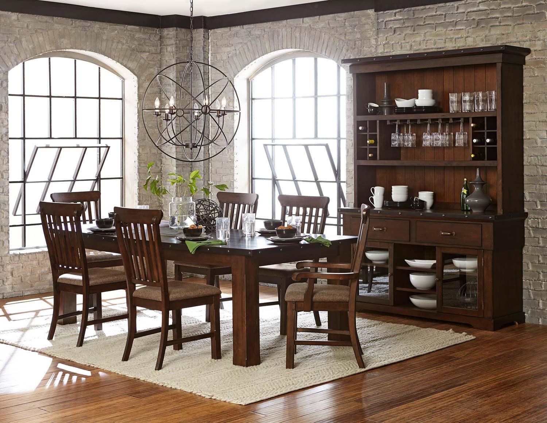 Homelegance Schleiger Dining Set - Burnished Brown