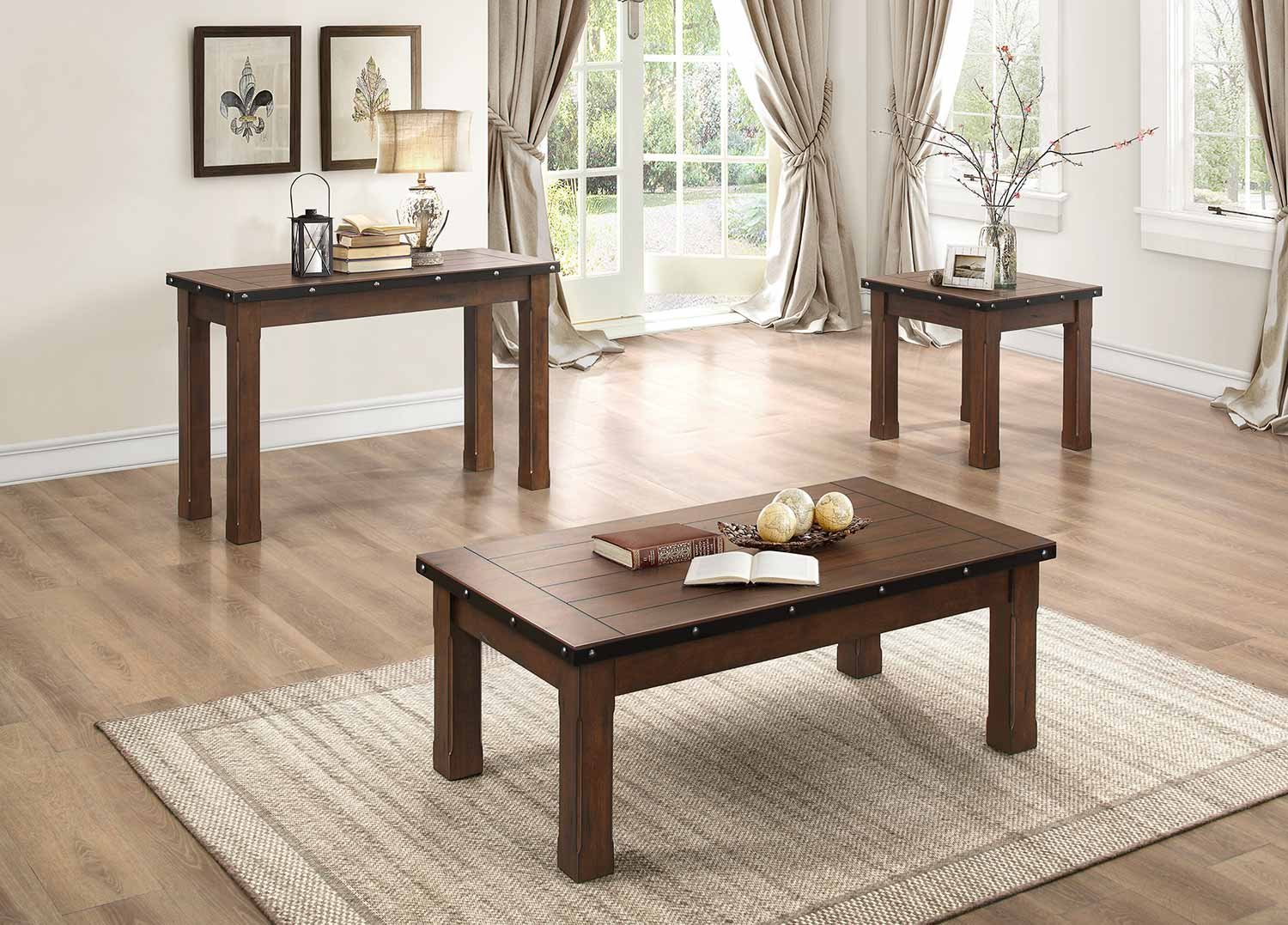 Homelegance Schleiger Coffee/Cocktail Table Set