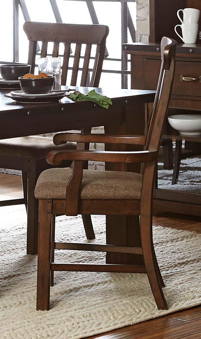 Homelegance Schleiger Arm Chair - Burnished Brown