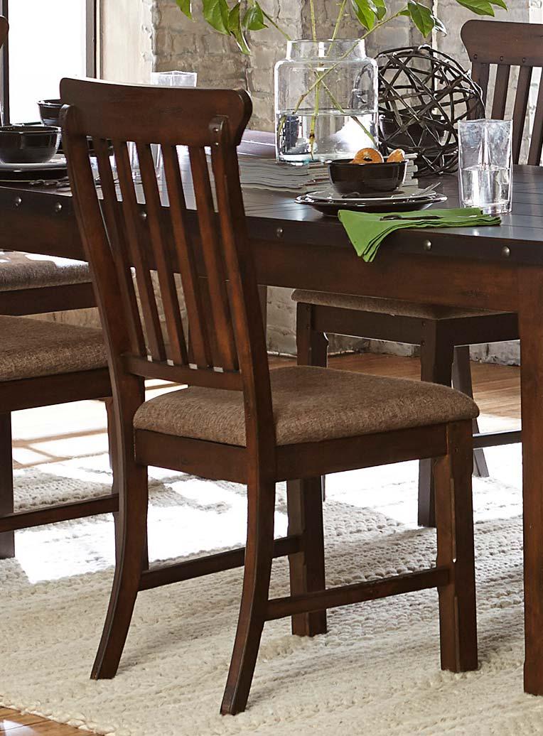 Homelegance Schleiger Side Chair - Burnished Brown