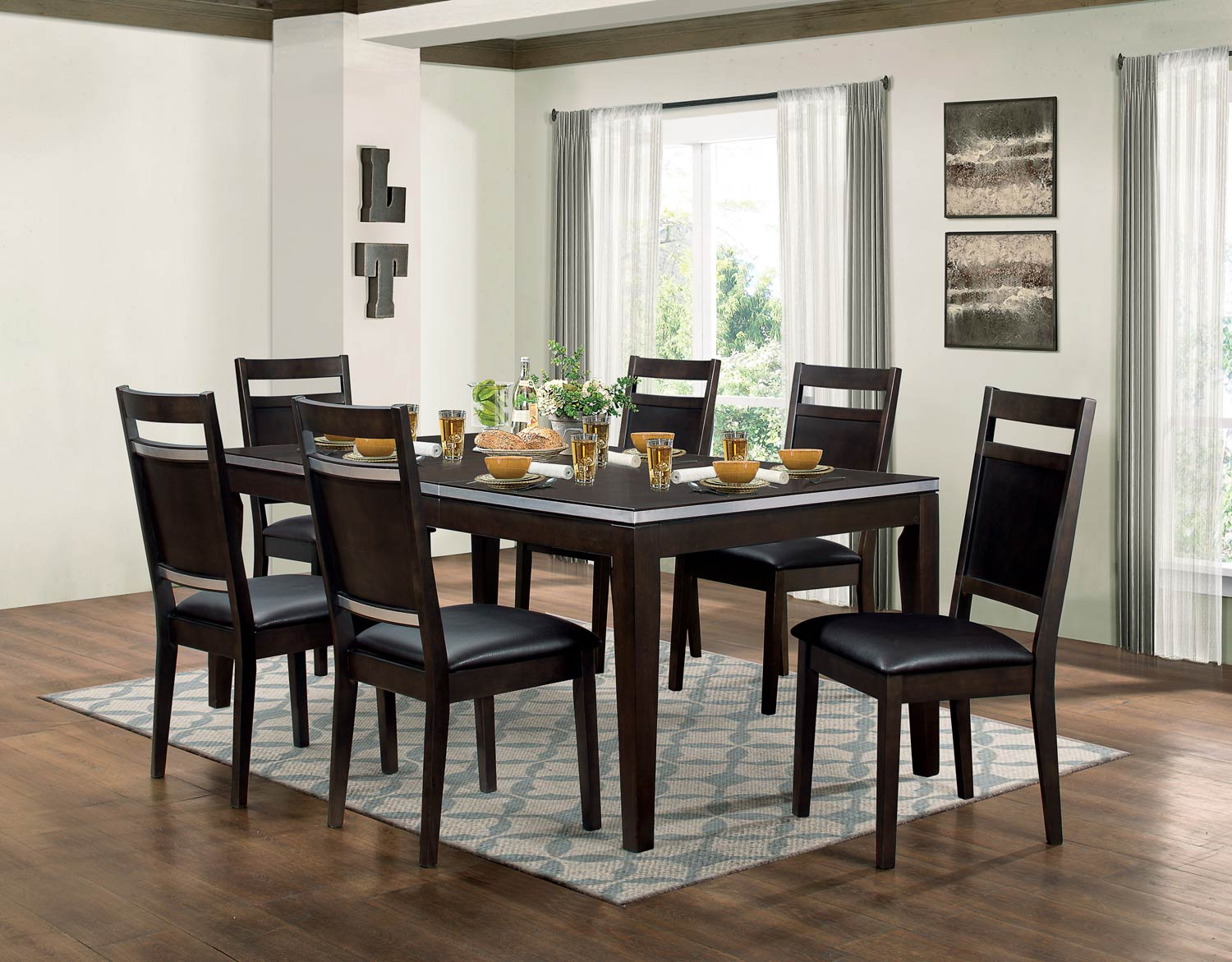 Homelegance Pasco Dining Set - Espresso