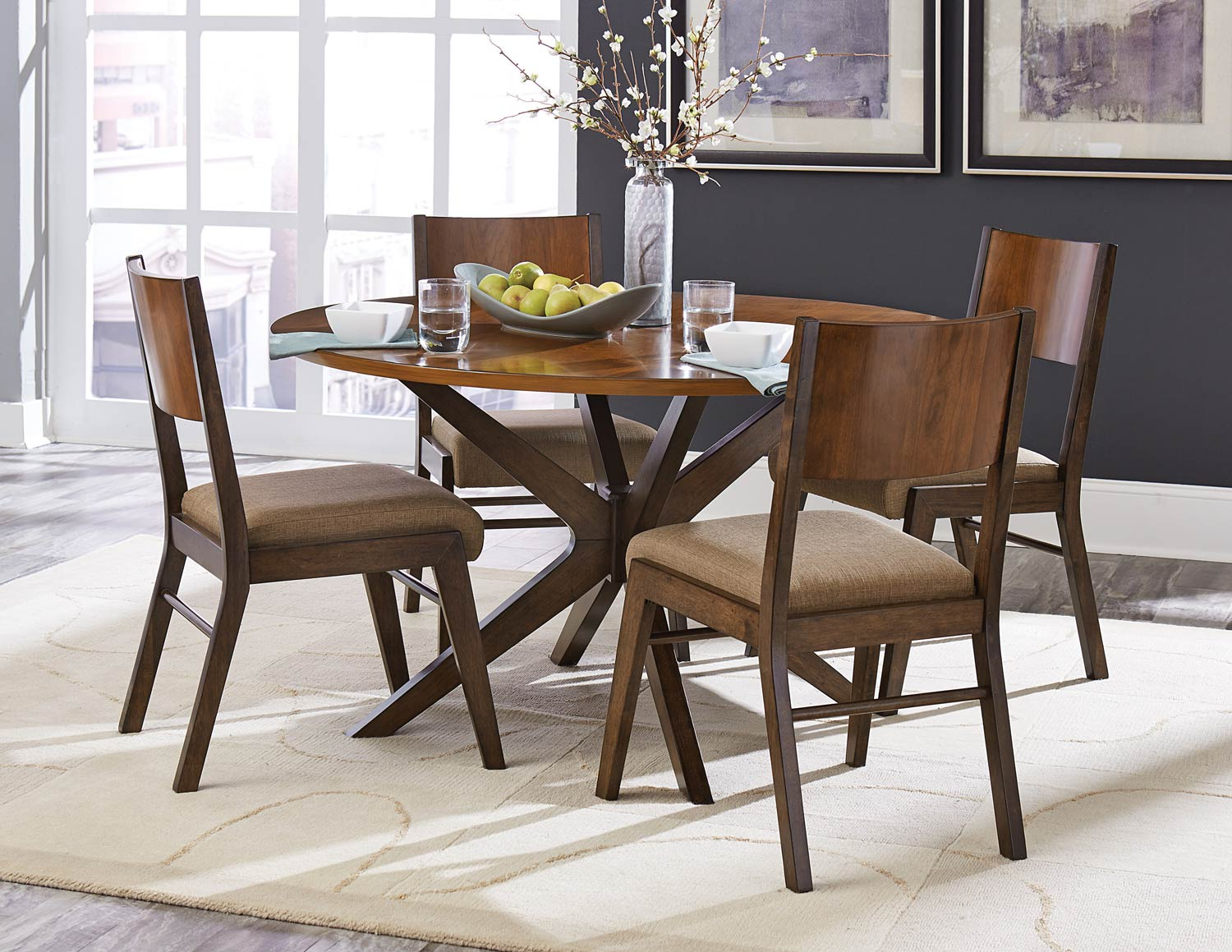 Homelegance Bhaer Round Dining Set - Two-tone