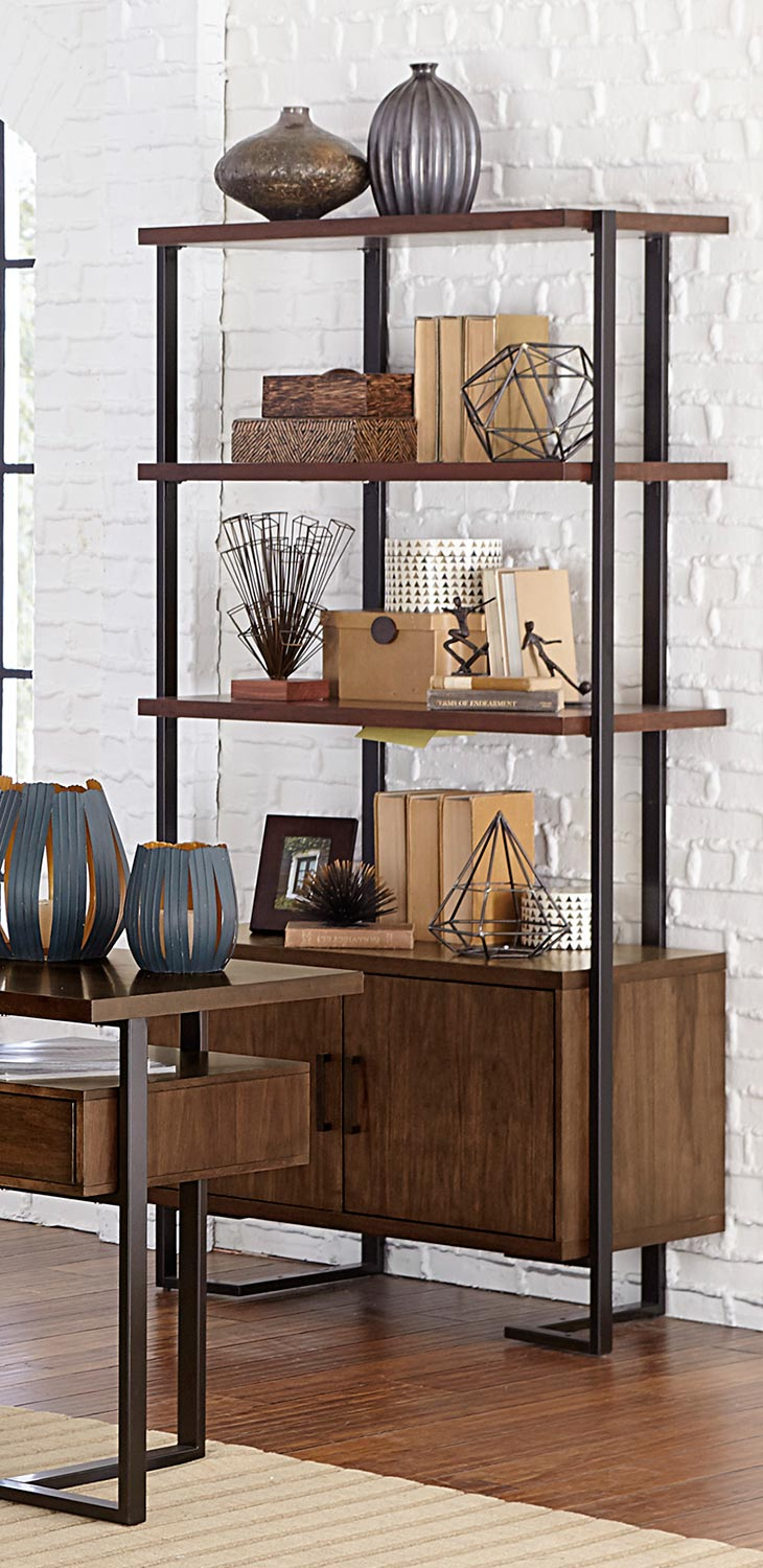 Homelegance Sedley Bookcase - Walnut
