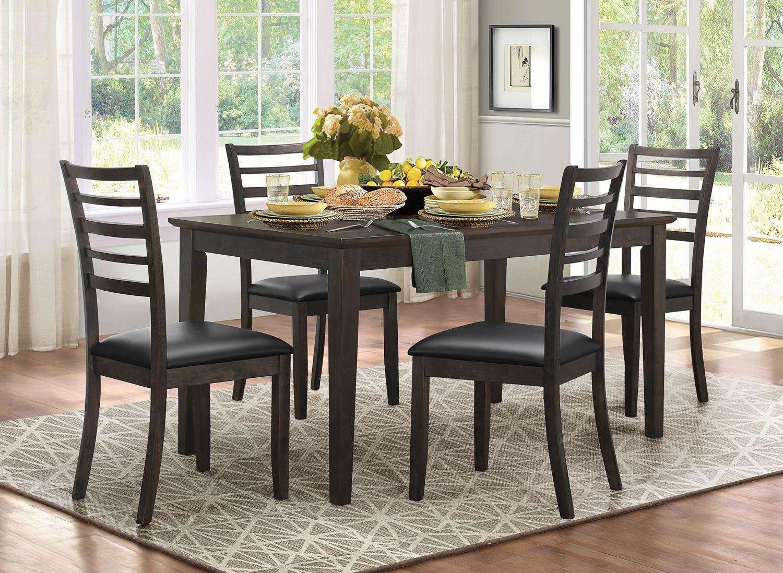 Homelegance Cabrillo Dining Set - Grey/Brown