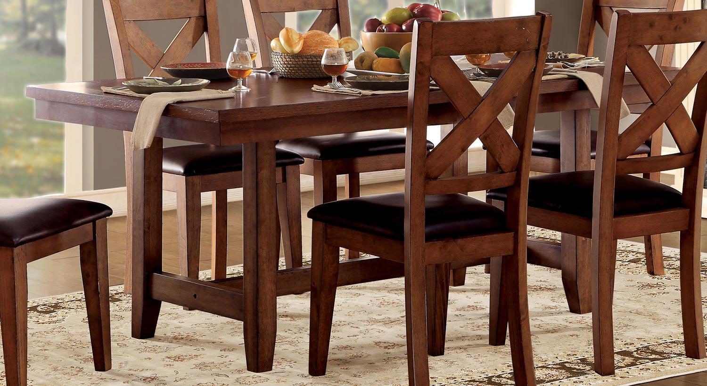 Homelegance Burrillville Trestle Dining Table - Oak