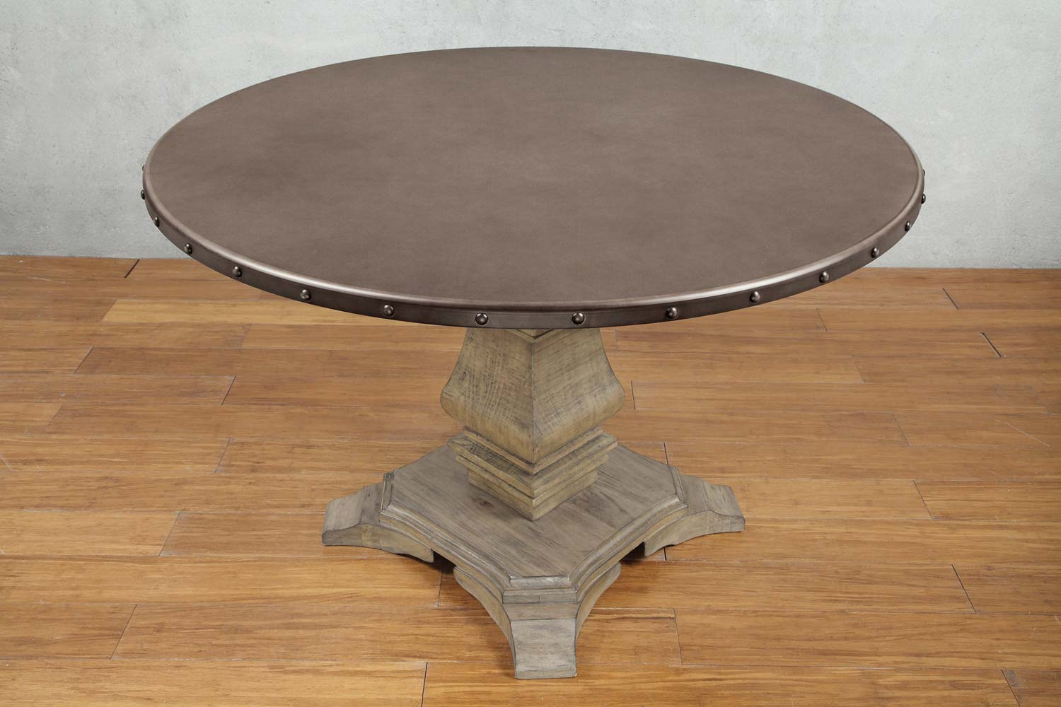 Homelegance Anna Claire Round Dining Table - Driftwood/Zinc