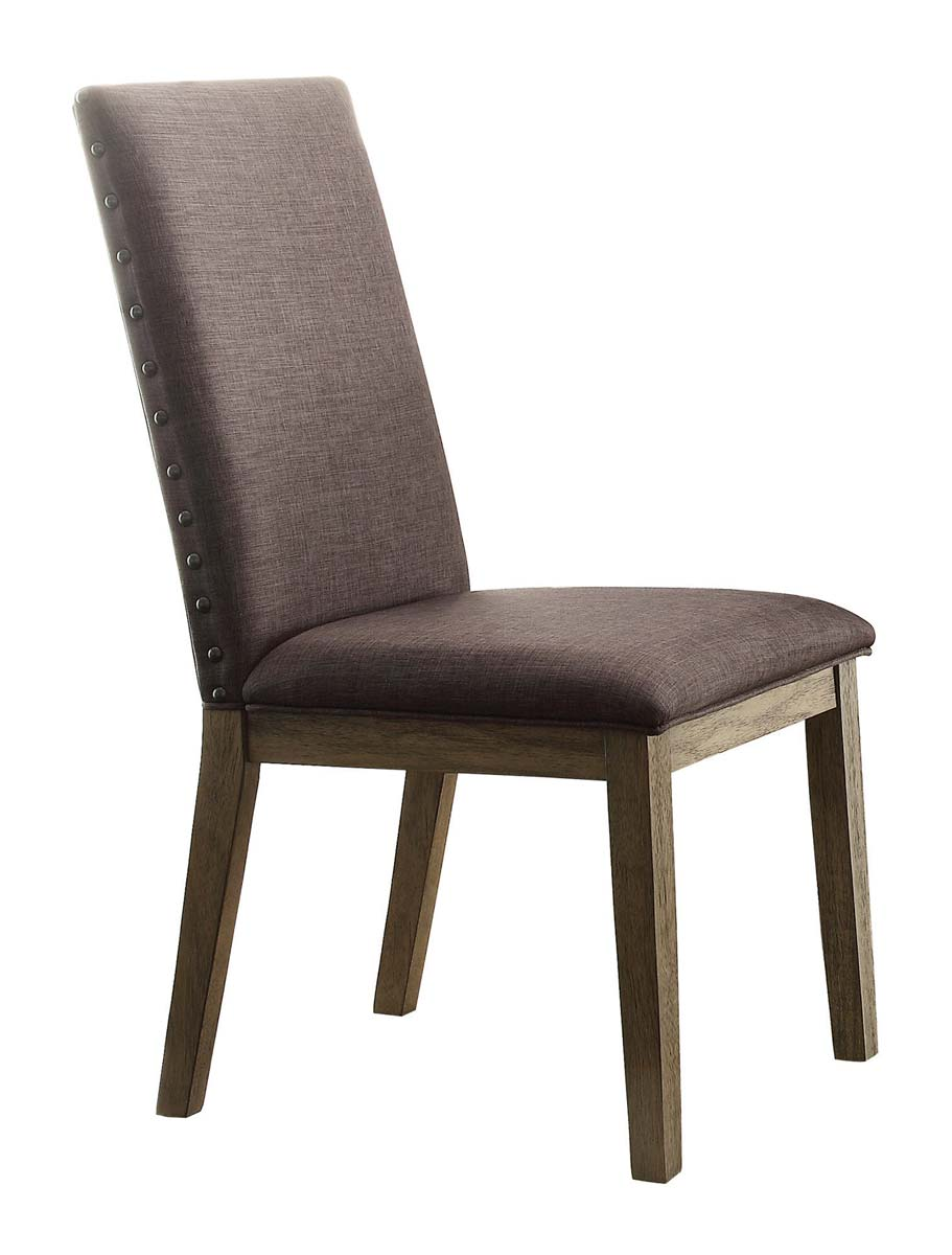 Homelegance Anna Claire Side Chair - Driftwood/Grey