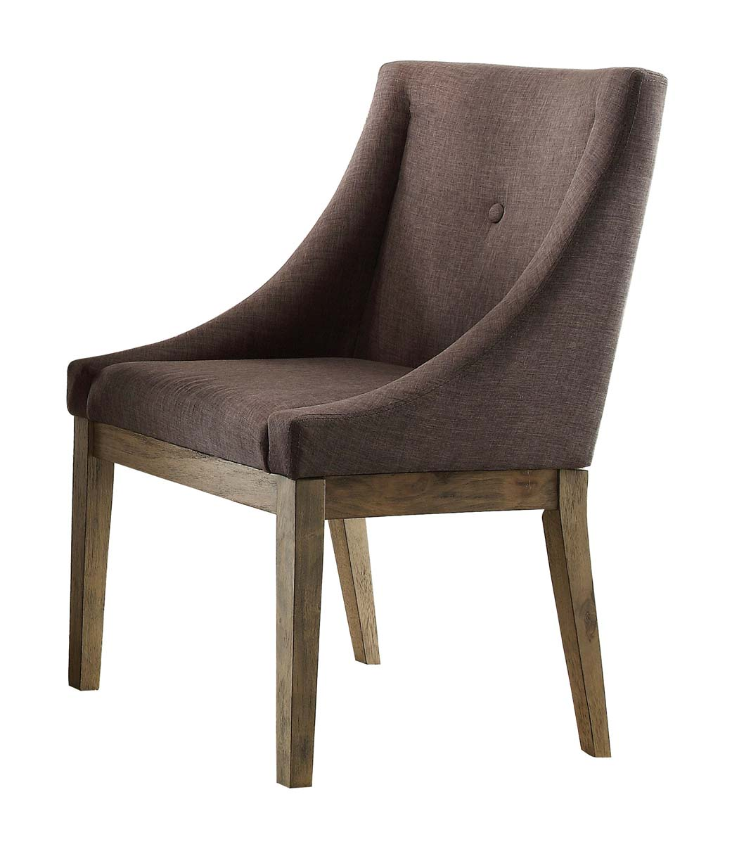 Homelegance Anna Claire Curved Arm Chair - Driftwood/Grey