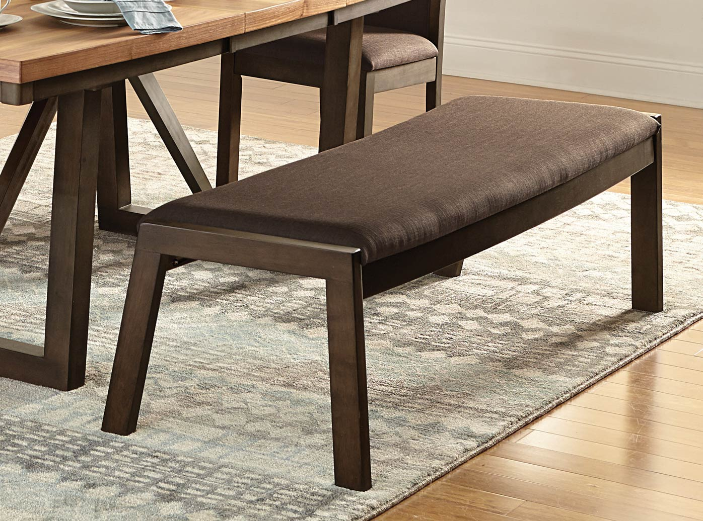 Homelegance Compson 60-inch Bench - Natural/Walnut