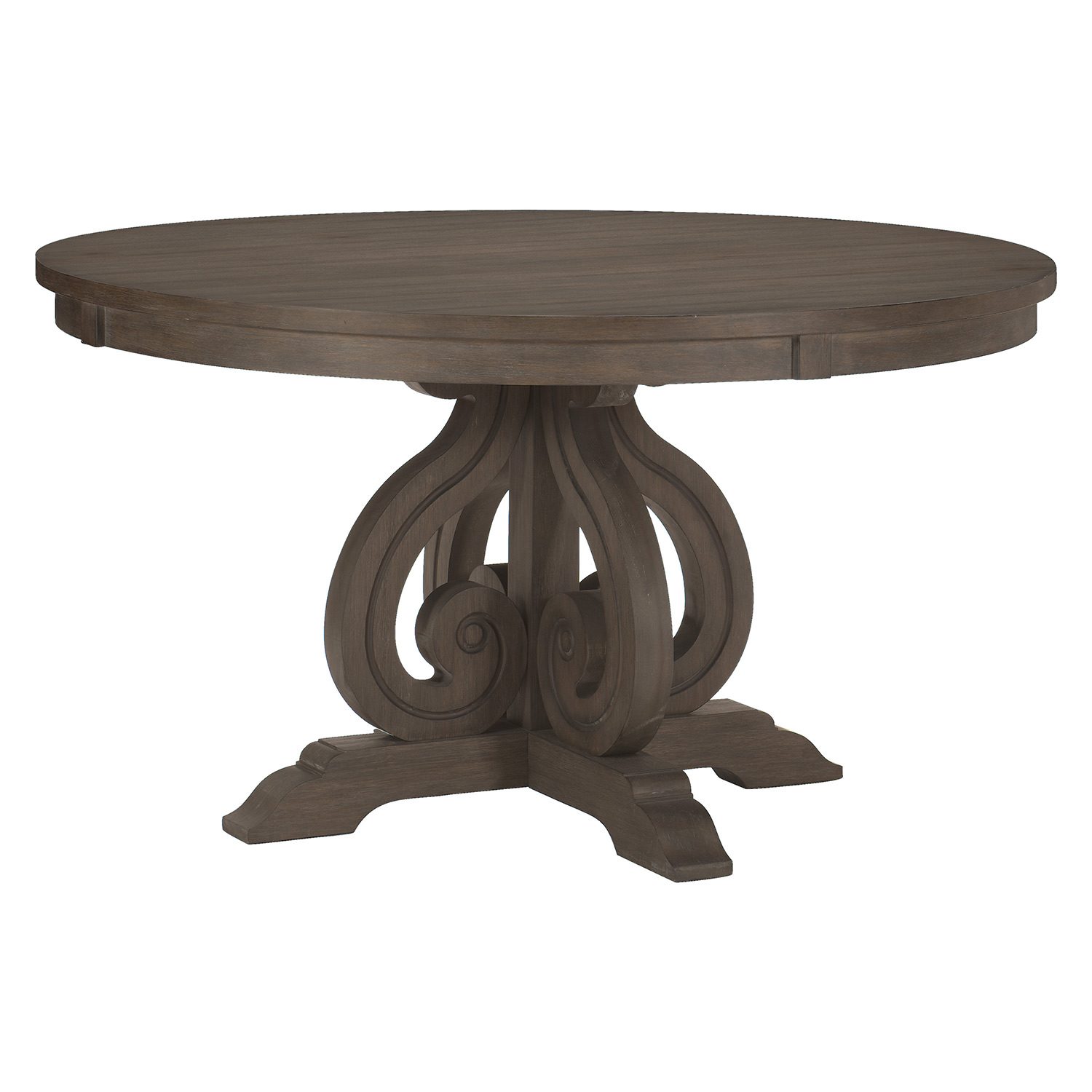 Homelegance Toulon Round DiningTable - Wire-brushed Dark Pewter