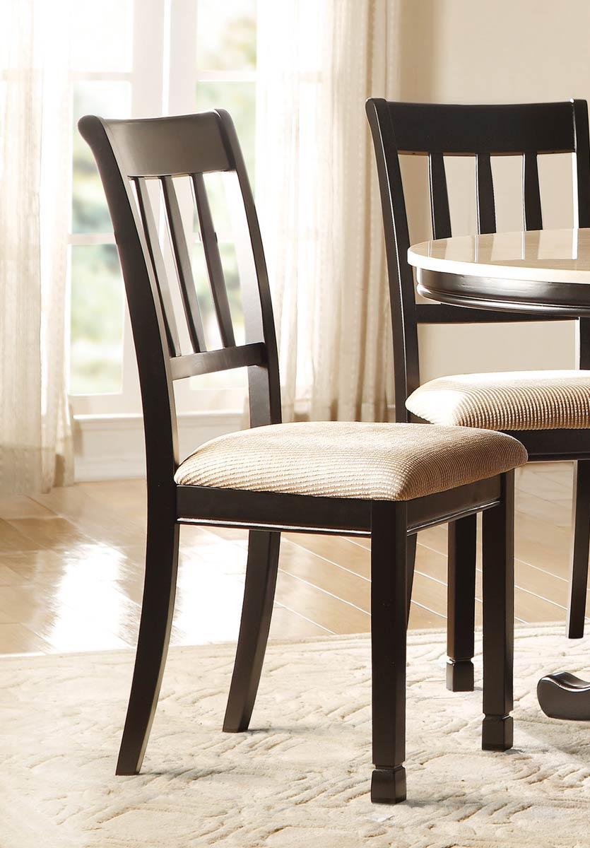 Homelegance Dearborn Side Chair - Black/Brown