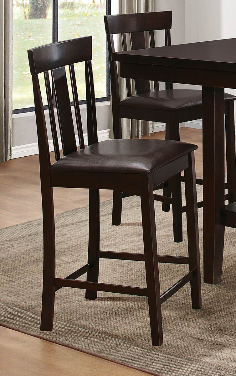 Counter Height Espresso Chairs : Homelegance Diego Counter Height Dining Set - Espresso D5460-36 at ...