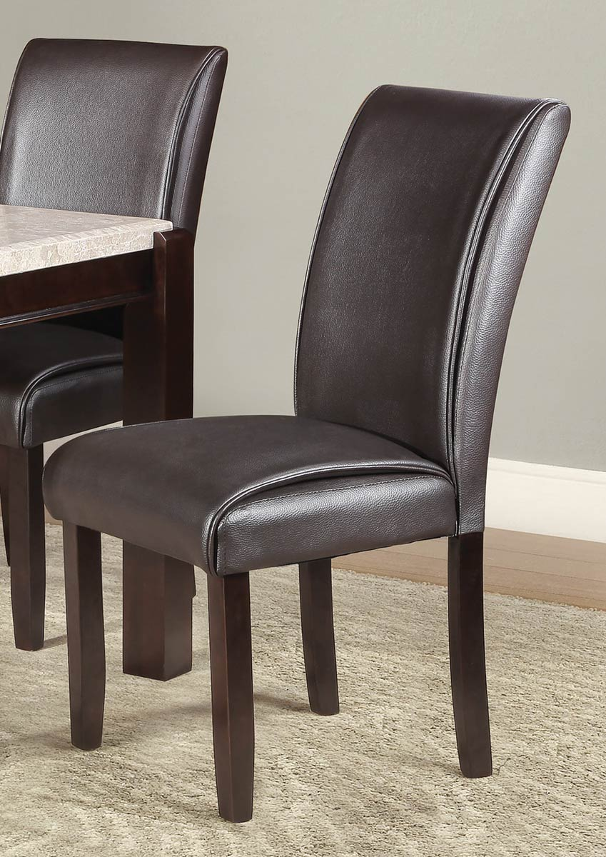 Homelegance Festus Side Chair - Dark Cherry