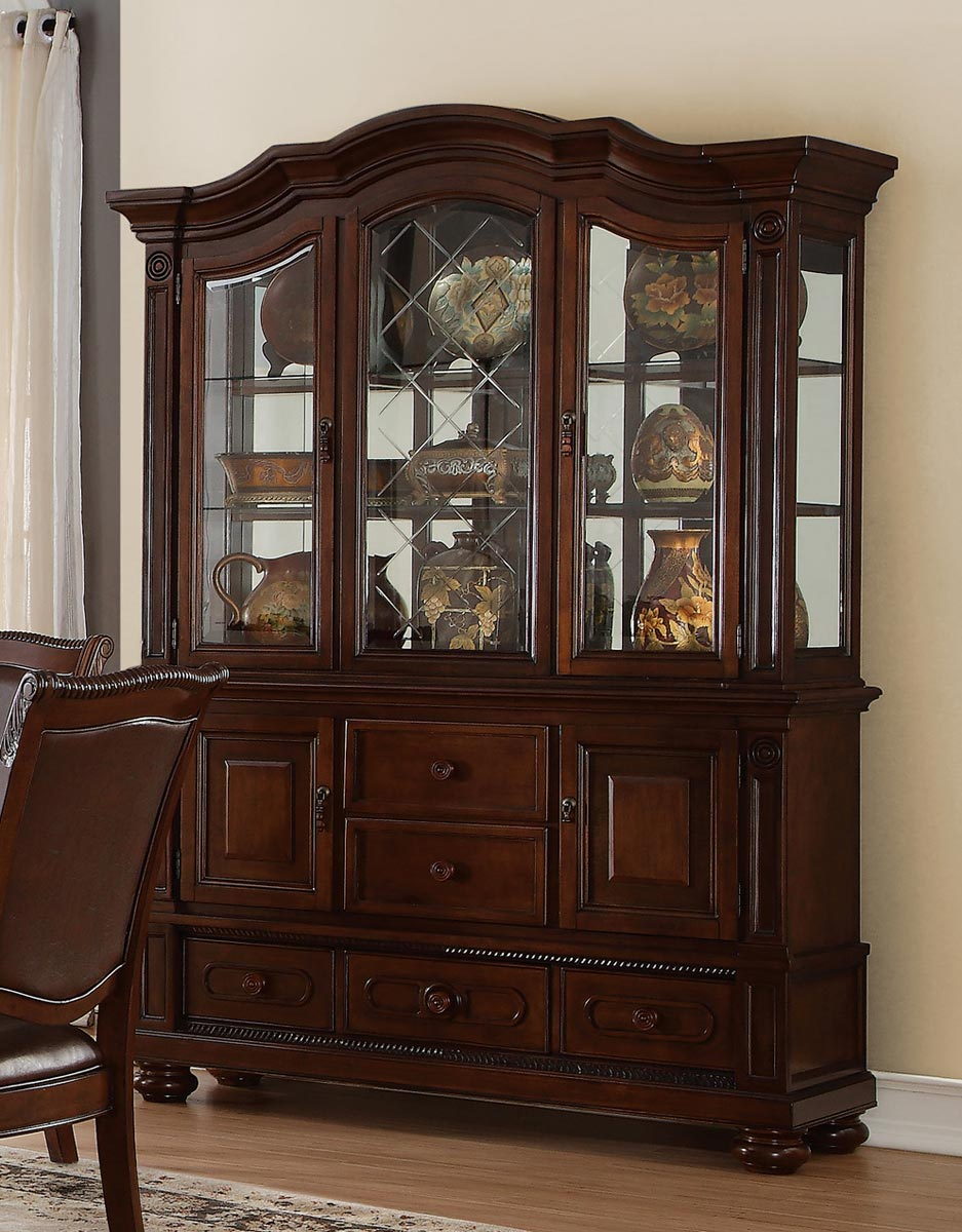 Homelegance Lordsburg China Cabinet - Brown Cherry