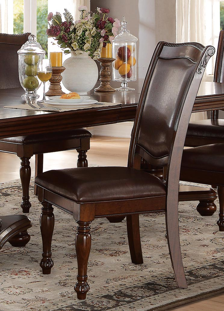 Homelegance Lordsburg Side Chair - Brown Cherry