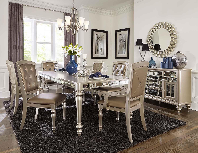 Homelegance Orsina Dining Set - Silver