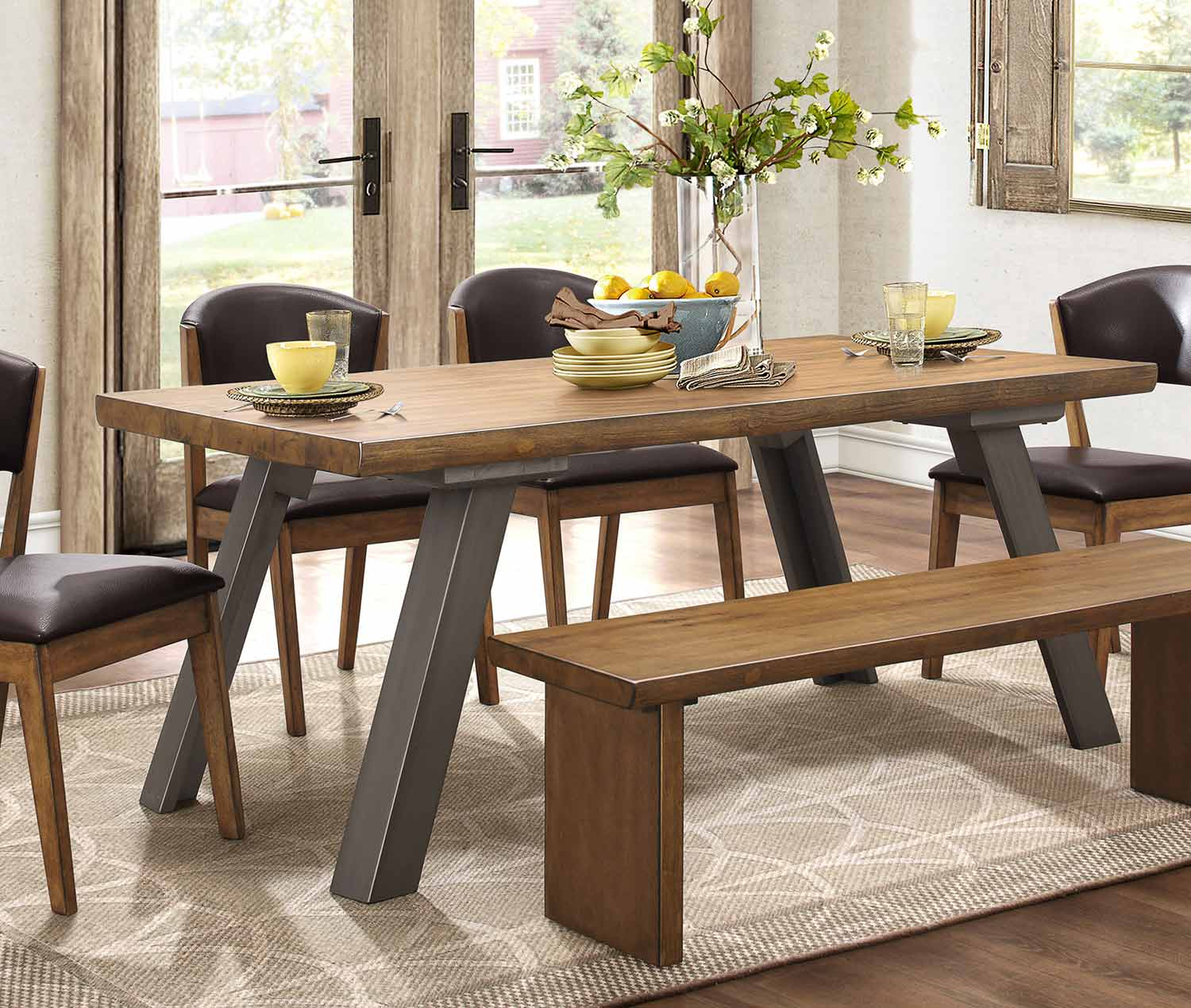 Homelegance Hobson Rectangular Dining Table