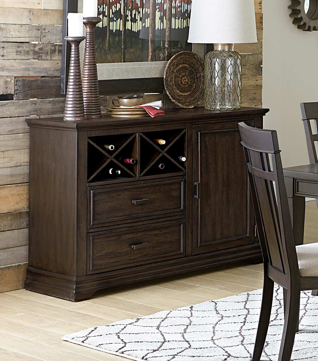 Homelegance Makah Server - Dark Brown