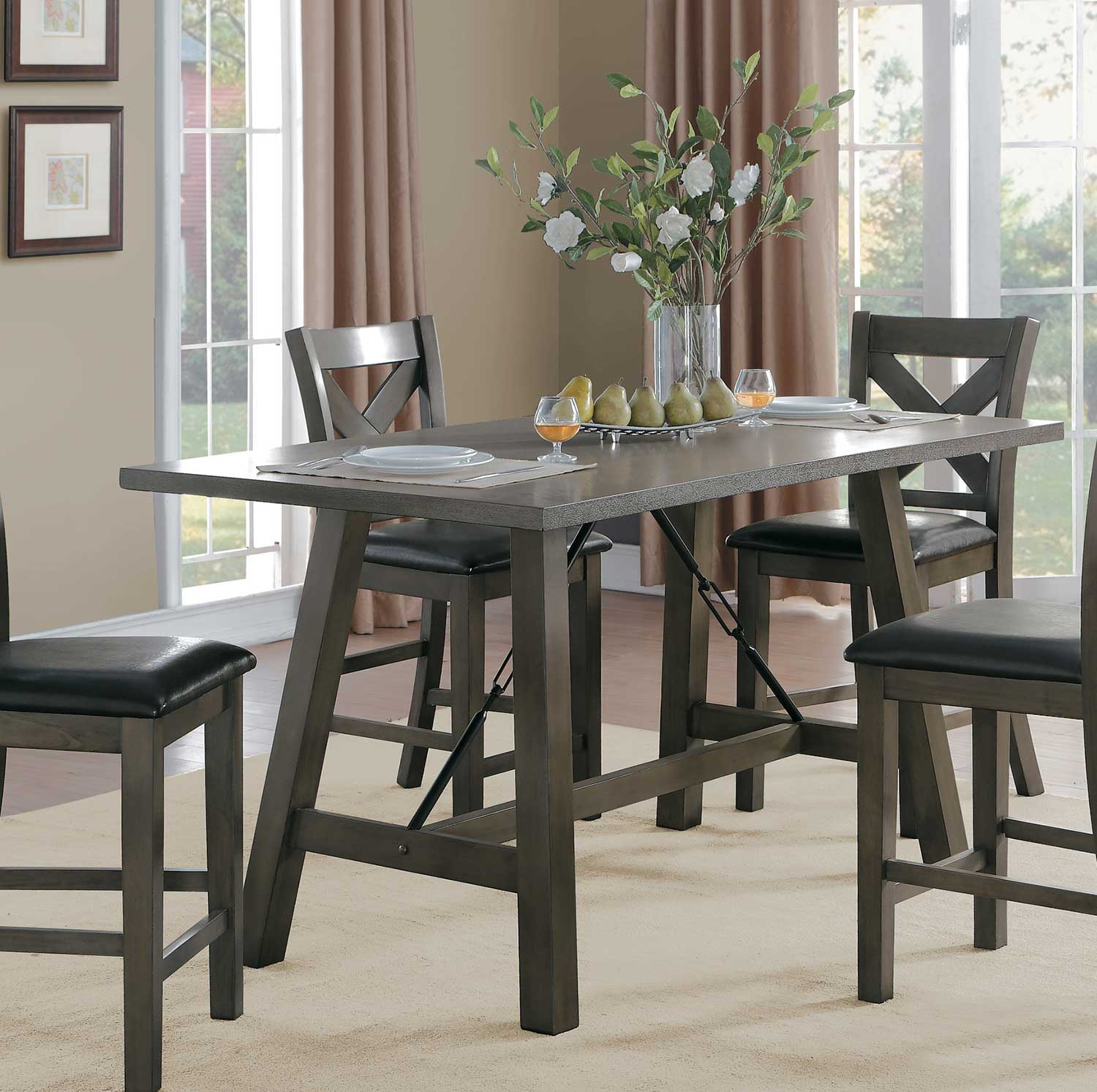 Homelegance Seaford Rectangular Counter Height Dining Set  : HE 5510 36 from www.homelement.com size 1500 x 1493 jpeg 187kB
