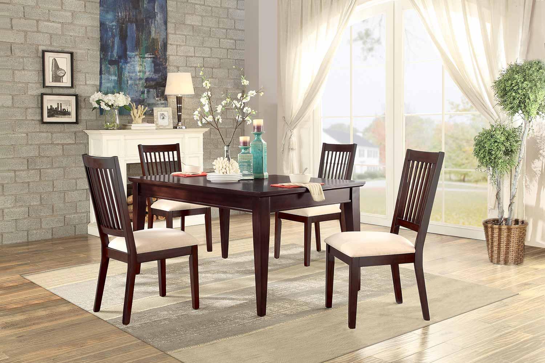 Homelegance Timber Forge Rectangular Dining Set - Cherry