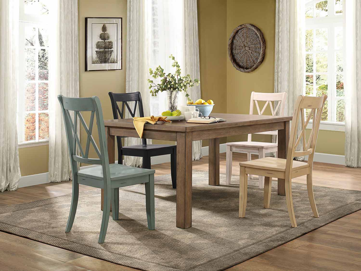 Homelegance Janina Rectangular Dining Set