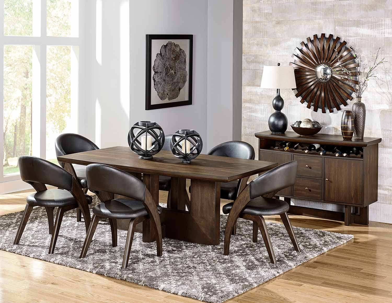 Homelegance Onofre Dining Set - Brown