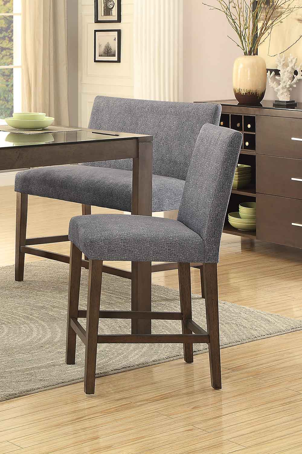 Homelegance Fielding Counter Height Chair - Brown
