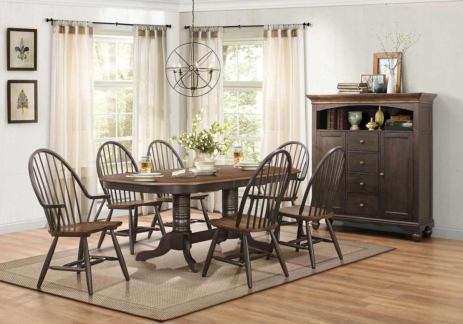 Homelegance Cline Dining Set - Two tone finish